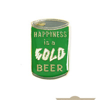 Beer Is Happiness Vintage Pin