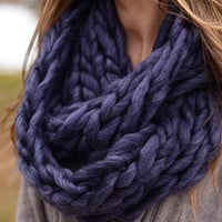 Soft as Silk Scarf - Indigo