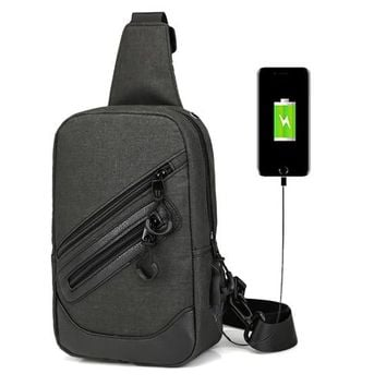 USB Canvas   Messenger Bag