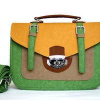 Colorful BIG size yellowgreenbrown summer fashion by Colorsurfer
