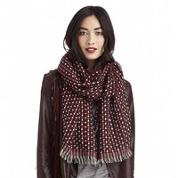 Sole Society Textured Plaid Scarf