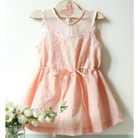 Vintage Inspired Girls Clothes Pink Tea Party Dress | Vindie Baby