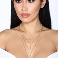 No Time For Change Necklace - Gold