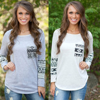 Women's Fashion Long Sleeve Casual With Pocket Slim T-shirts [9068283204]