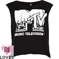 black mtv city scene print tank top - vests - t shirts / vests / sweats - women - River Island