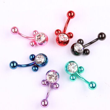 Steel Micky Belly Button Ring
