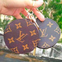 Free shipping-LV Tide brand classic old flower retro zip coin purse