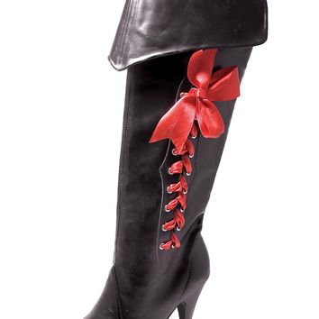 Boot Pirate With Ribbons Size 7 Fashion Halloween props Costumes