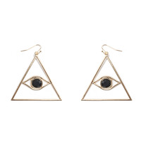 Evil Eye Golden Earrings