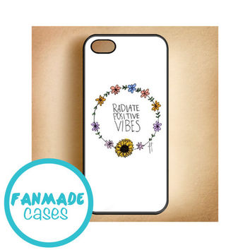 Radiate Positive Vibes 4/4s 5/5s/5c & iPod 4/5 Rubber Case