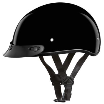 Daytona Skull Cap - High Gloss Black - D.O.T.