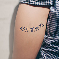 God save me - temporary tattoo