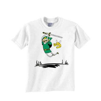 adventure time the legend of zelda Custom Tshirt for men's , T shirt Cotton, Funny T shirt, Awesome T shirt, best design and clothing