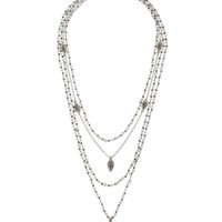 Lucky Brand Multi Layer Necklace Womens - White/Multicolor (One Size)
