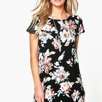 Cara Floral Printed Shift Dress