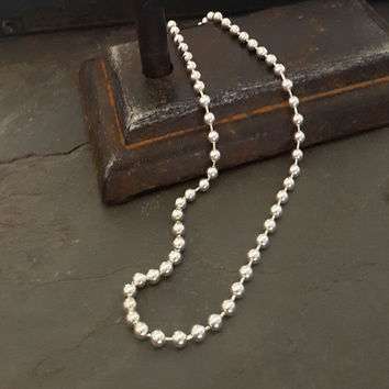 Sterling Silver Bead Chain Layering Necklace