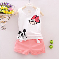Minnie Mouse Spring Baby Tank Top Shorts