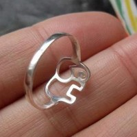 925 Sterling Silver Elephant Ring for Women