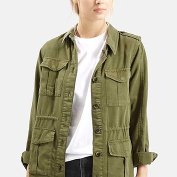 Women's Topshop 'Elsa' Four Pocket Utility Jacket,