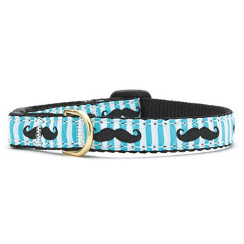 Up Country Mustache Cat Collar