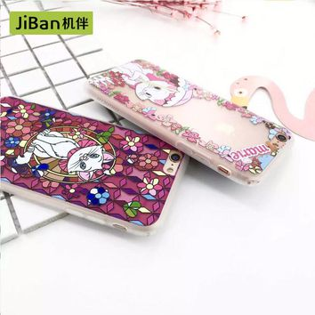 JiBan Princess mermaid for iPhone 6 / 6splus case  mobile phone shell protective embossed for iPhone 7 plus cases