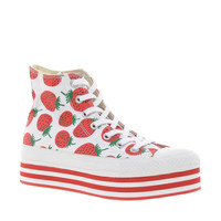 Converse All Star Strawberry Platform High Top Trainers