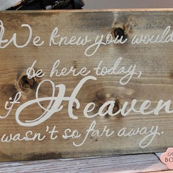 12 x 8 Wood Sign, We knew you would be here today