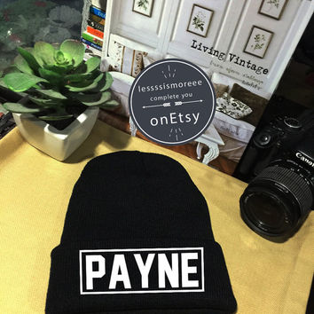 Liam Payne Beanie Payne 93 Cuffed Beanies Winter Hat Beanie Hat Use Flock Flex Really High Quality