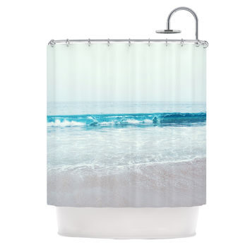 "Nastasia Cook ""Crystal Clear"" Ocean Wave Shower Curtain"