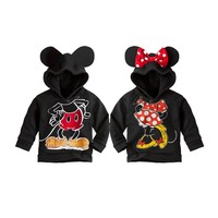 cute baby kid sweatshirt coat cartoon minnie mickey costume hoodie coat for 2-6yrs children little boys girls outerwear clothes