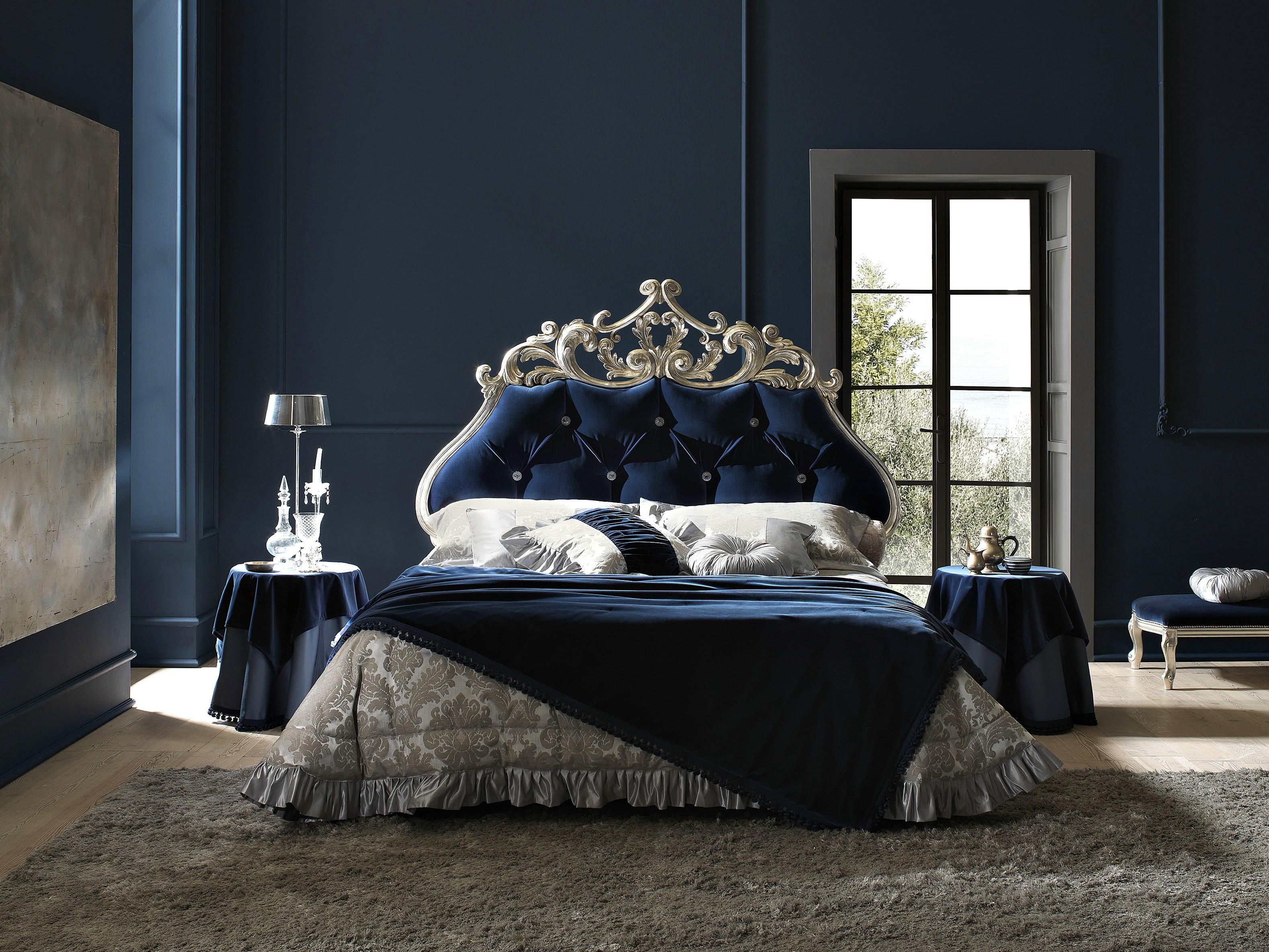 Double Bed With Tufted Headboard Velvet From Archi Products