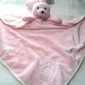 Baby Blanket Pink Bunny  Minkie and Jersey Baby Girl