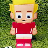 Switzerland football soccer craft activity. Printable paper toy. Instant download. Make you own cards, banners and football soccer bunting!