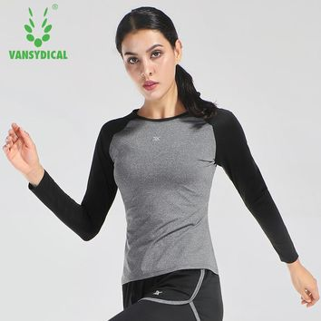 Women long Sleeve Elastic Yoga Sports T Shirt Fitness Women's Gym Running Tops Tee Quick Dry jogging Shirts