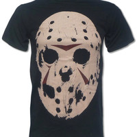 Jason Voorhees T Shirt (Friday The 13th Horror Mask) Cult 1980s Movie Tee - Graphic Tees For Men & Women