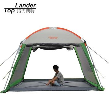 Outdoor Waterproof Sun Shelter Beach Gazebo Canopy Tent Multi-people Party Picnic Camping Awing Gazebo for Garden
