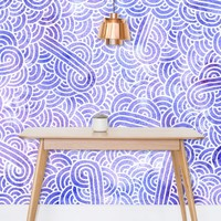 'Lavender and white swirls doodles' Wallpaper by Savousepate on miPic