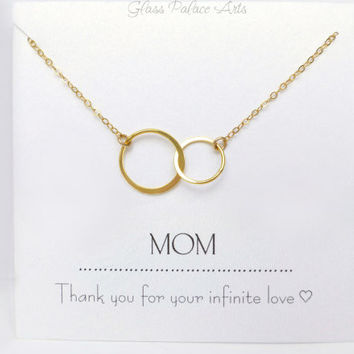 Gift For Mom Necklace, To Mom From Daughter, Personalized Necklace For Mom, Mother of Bride Gift, Mother's Push Present Necklace Jewelry