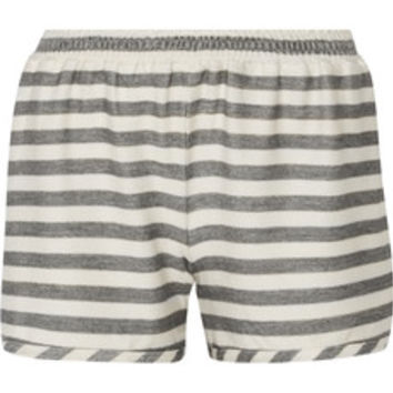 Alice + Olivia Striped modal-blend shorts – 50% at THE OUTNET.COM