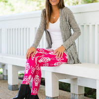 Aztec Fun Leggings, Pink