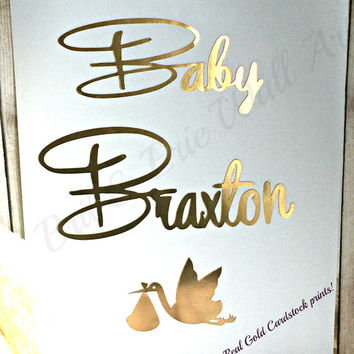 "Print Wall art Quotes "" Baby Braxton"" Your name"