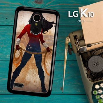 Wonder Woman Silhouette Y0546 LG K10 2017 / LG K20 Plus / LG Harmony Case