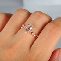 0.5 Carat Morganite Engagement Ring