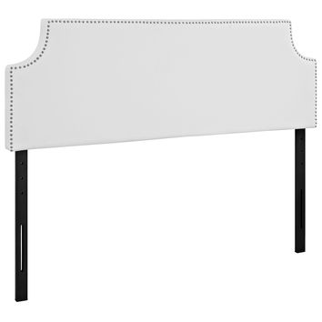 Laura Queen Upholstered Faux Leather Headboard