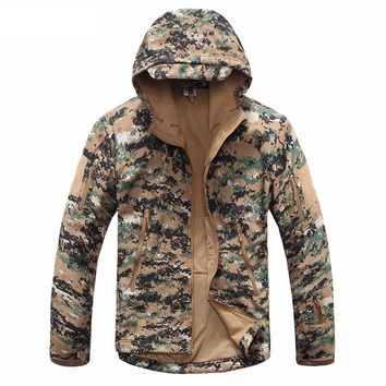 Trendy New Digital Camouflage Tactical Gear Military Army Jacket Men Softshell Waterproof Hunter Clothes Winter Casual Jackets AT_94_13