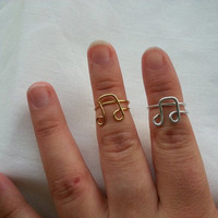 Custom Wire Knuckle-Rings in any Wire Color: Music Note, Bow, Love, Heart, Chevron Stackable Rings, and more!