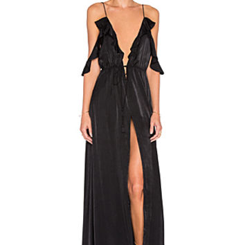 Tanlines Maxi Dress in Black
