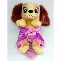 "disney parks 10"" baby lady plush toy with blanket new with tag"