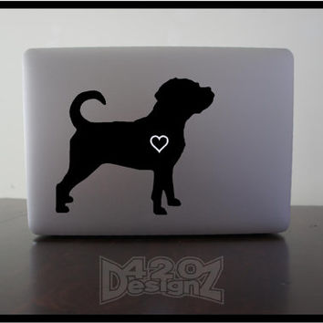 Puggle  - Macbook Air, Macbook Pro,  Macbook decals, sticker Vinyl Mac decals Apple Mac Decal, Laptop, iPad