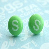 Skittles Candy Stud Earrings